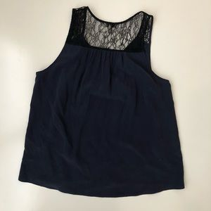 Joie Tops - Joie Alvery Lace Trim Silk Sleeveless Top